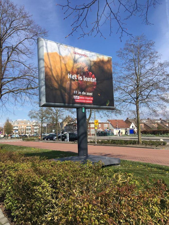 Lichtpuntje op een elektronisch billboard in Dinteloord.