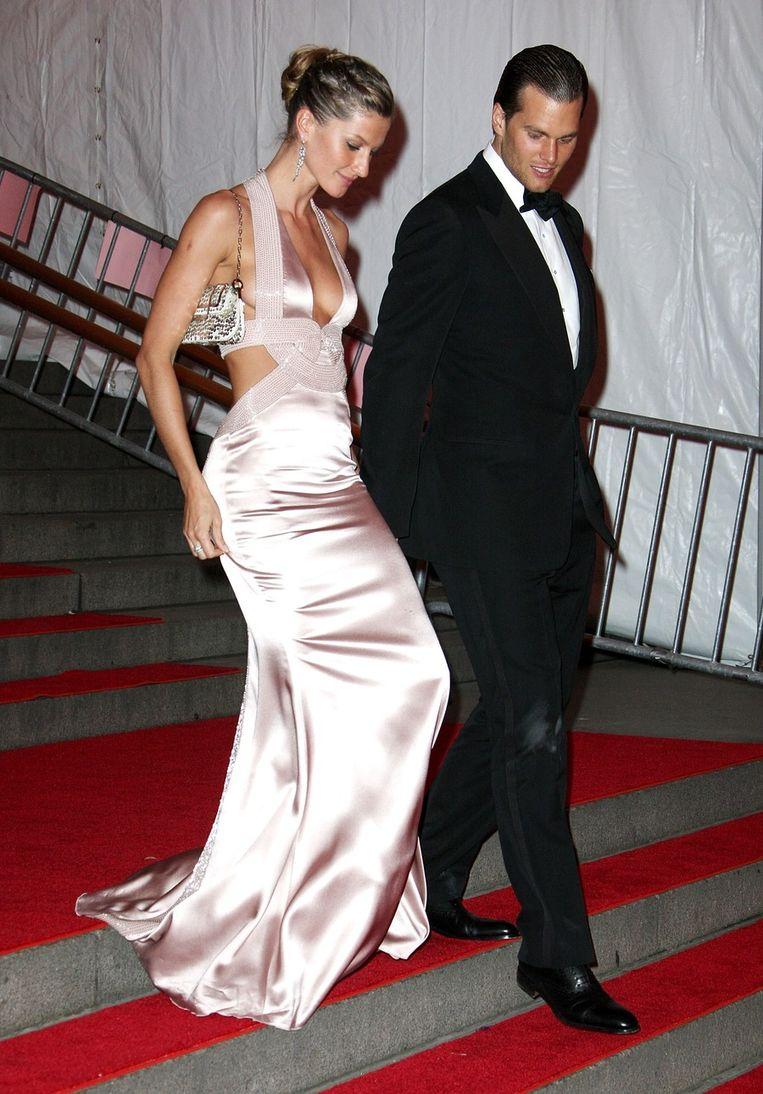 Met echtgenoot Tom Brady. Beeld UNKNOWN