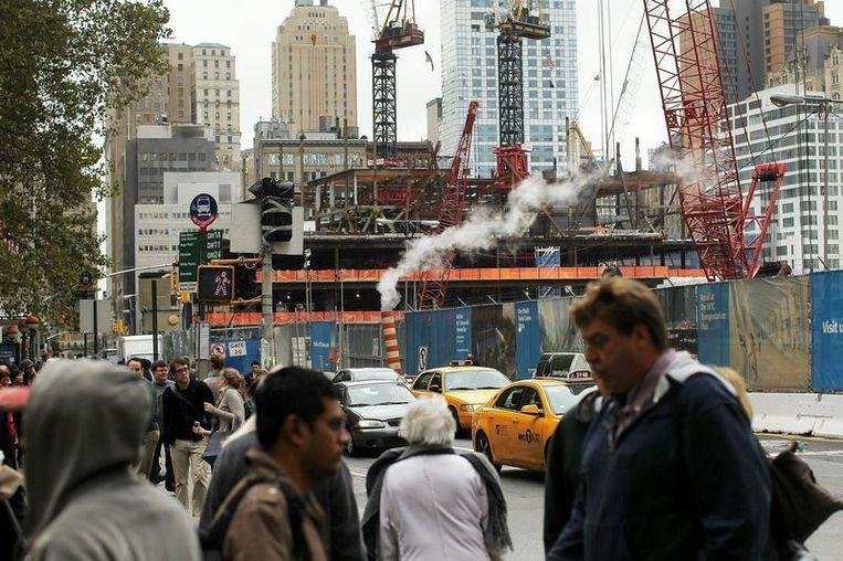Zicht op Ground Zero, waar tot 11/09/2001 de WTC-torens stonden. Beeld UNKNOWN