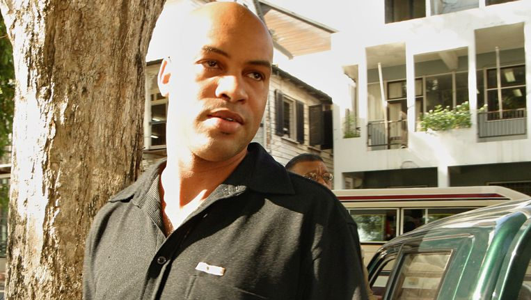 Archieffoto van tien jaar gelden van Dino Bouterse. Beeld AP