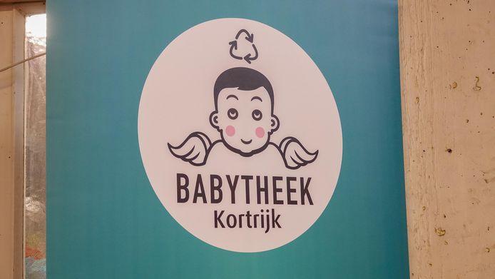Het logo van de Babytheek