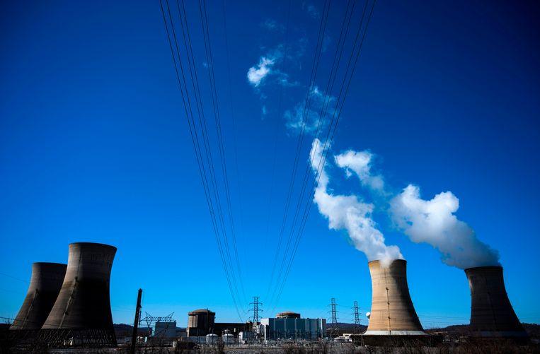 De kerncentrale op Three Mile Island in Pennsylvania. Beeld AFP