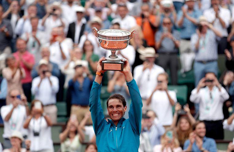 Rafael Nadal is de te kloppen man op Roland Garros. Beeld EPA