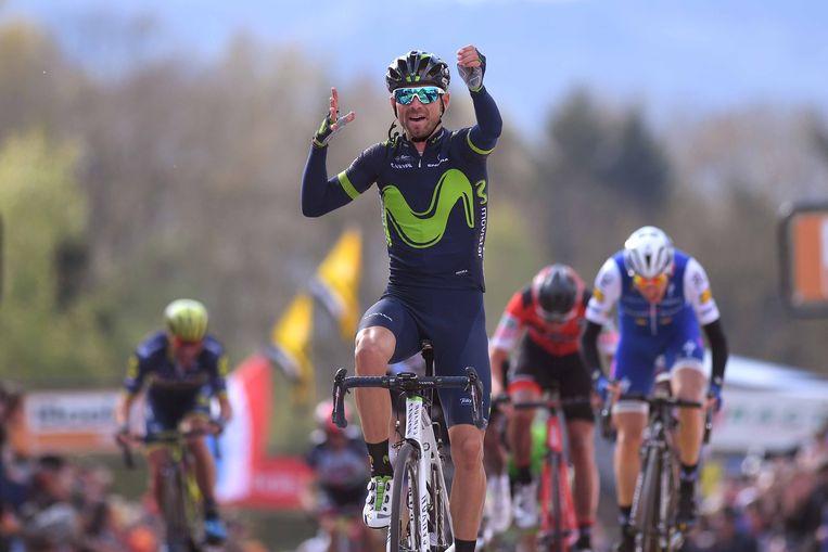 Valverde was vorig jaar de beste in Hoei. Martin (rechts) en Teuns verdeelden de overige podiumplaatsen. Beeld TDW