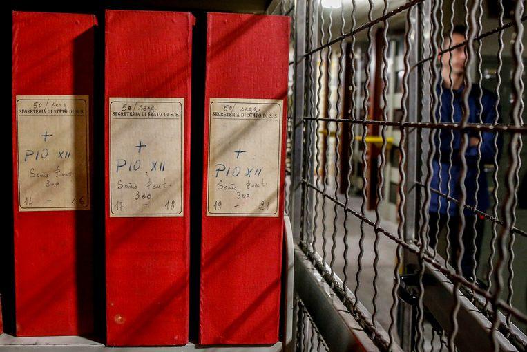 Een deel  van het archief van Paus Pius XII. Beeld EPA