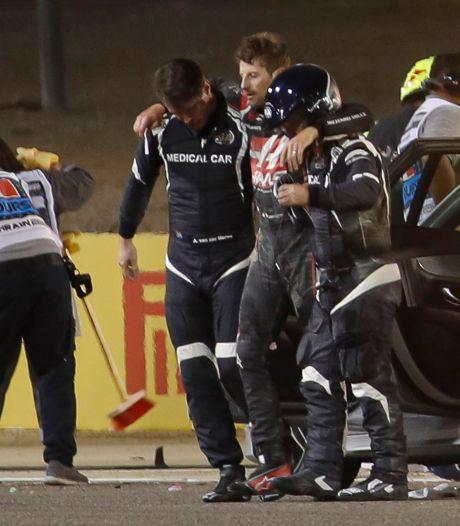 Vettel: 'Dat Grosjean nog leeft, is het hoogtepunt van het jaar'