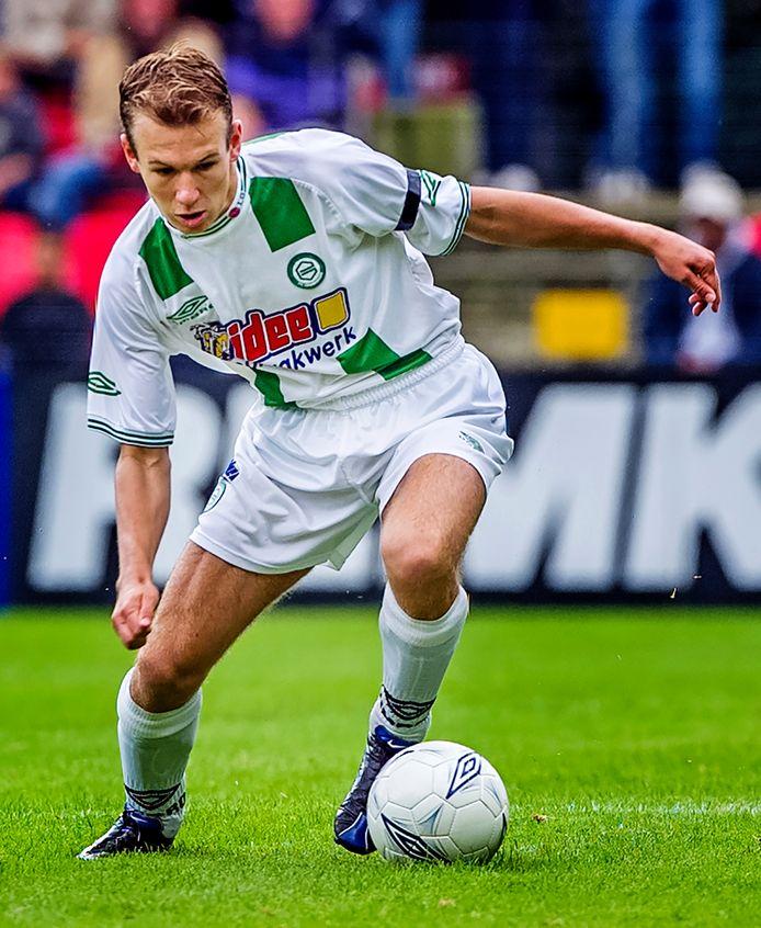 FC Groningen-FC Twente, 12 september 2001: Arjen Robben in actie.