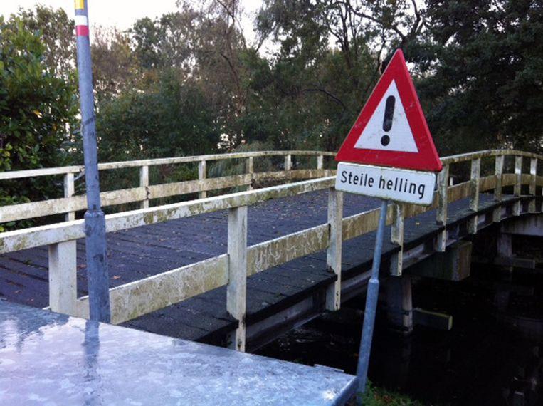 'Ten eerste is er geen sprake van een helling, maar van een brug. Ten tweede: zo steil is het allemaal niet.' Beeld Gitta Veraart