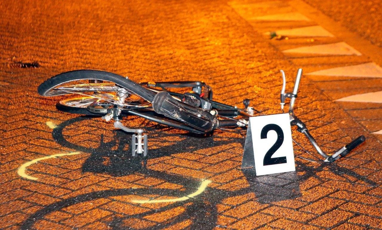 De fiets waarmee Kazimir Albertus is verongelukt.