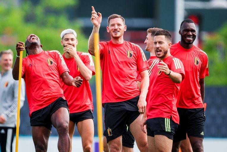 De Belgische voetbalbond kan dankzij de Rode Duivels in het beste geval 28 miljoen euro opstrijken op het EK. Beeld Photo News