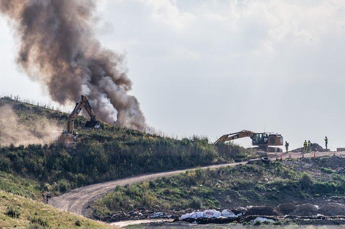 Brand bij afvalverwerker Attero.
