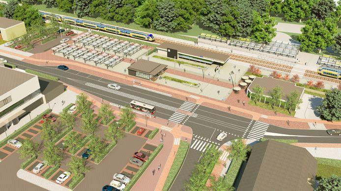 Sfeerimpressie van het gebied rondom station Etten-Leur.