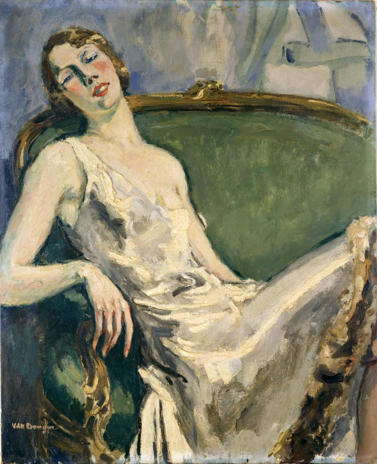 Portret van Madame Marie-Thérèse Raulet, 1925-30, door Kees van Dongen. Beeld