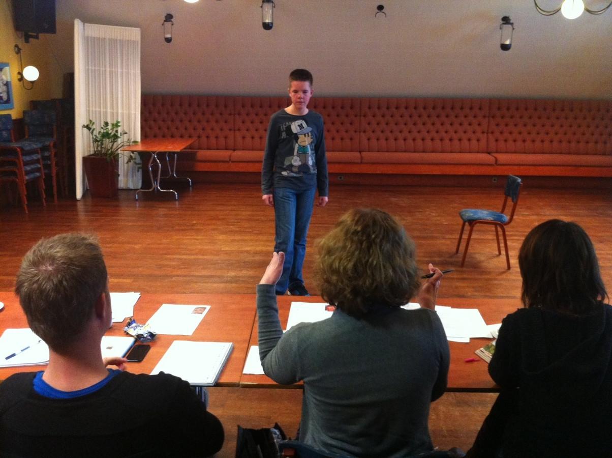 Tim de Lange uit Veghel doet auditie voor een felbegeerde rol in de musical.