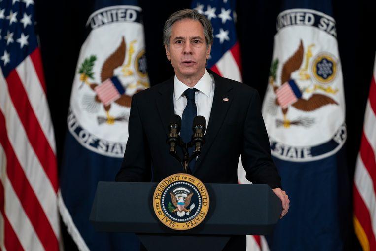 Amerikaans buitenlandminister Anthony Blinken reist vandaag af naar Azië voor overleg met Japan, India en Australië. Beeld AP