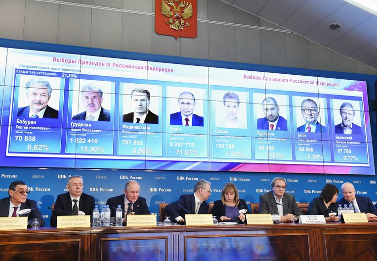 Er waren in totaal zeven kandidaten voor de presidentsverkiezingen. Beeld Photo News