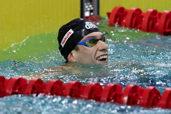 Stan Pijnenburg bij de Eindhoven Qualification Meet 2021.