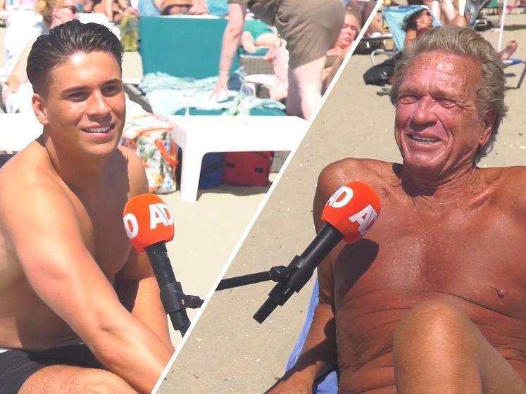 Hitte op het strand: 'Af en toe paraderen voor de vrouwtjes'