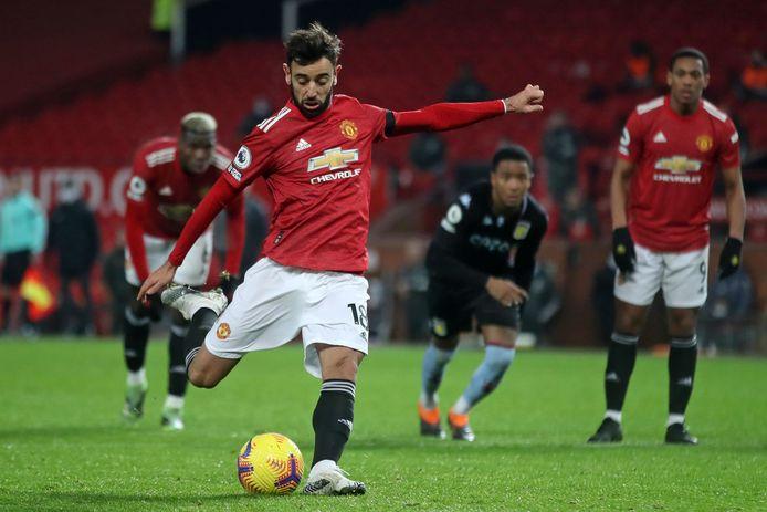 Bruno Fernandes maakte 15 van zijn 28 goals voor United vanaf elf meter.