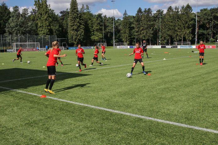De training van PSV.