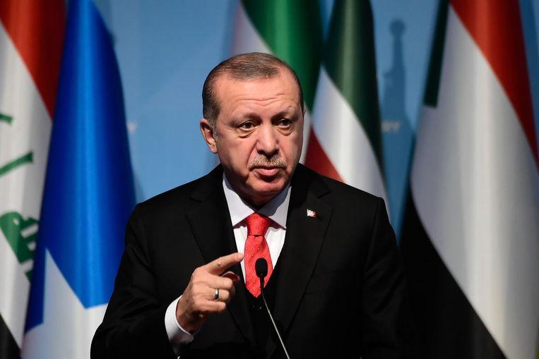 President Erdogan is boos op Oppenheimer. Beeld AFP