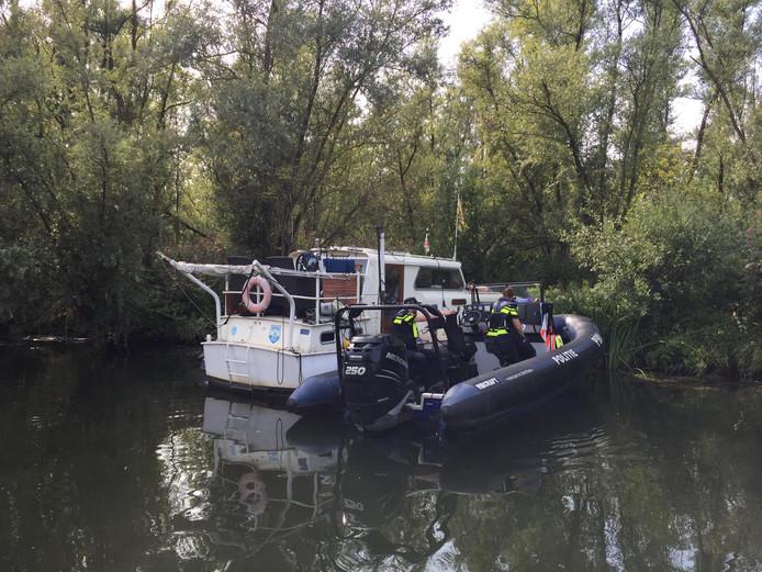 De boot waar de man aan werd getroffen
