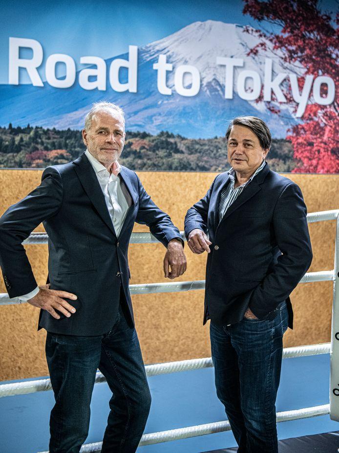 Hans Erik Tuijt (rechts) van Heineken en Gerard Dielessen (NOC*NSF).