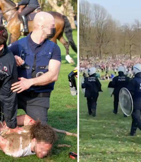 Un rassemblement de milliers de personnes au Bois de la Cambre dégénère: 22 arrestations et plusieurs dizaines de policiers blessés