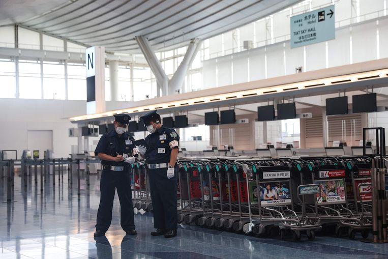 Haneda luchthaven in Tokio, waar Tsimanoeskaja naar eigen zeggen bijna op een vliegtuig gedwongen werd. Beeld AFP
