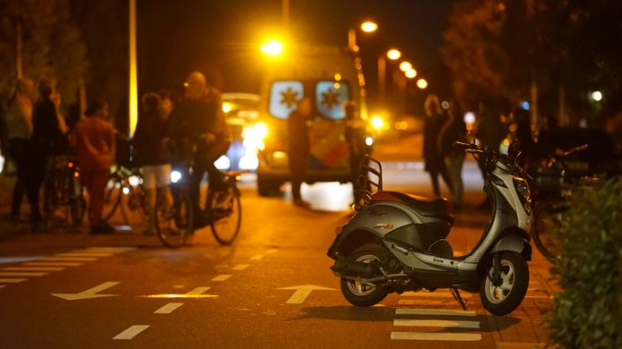 De scooter van het slachtoffer.