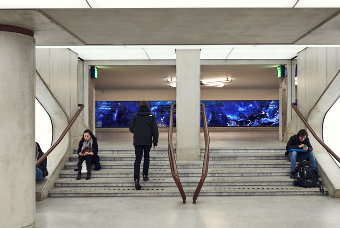 Kunstwerk van Daan Roosegaarde in het Eindhovense station