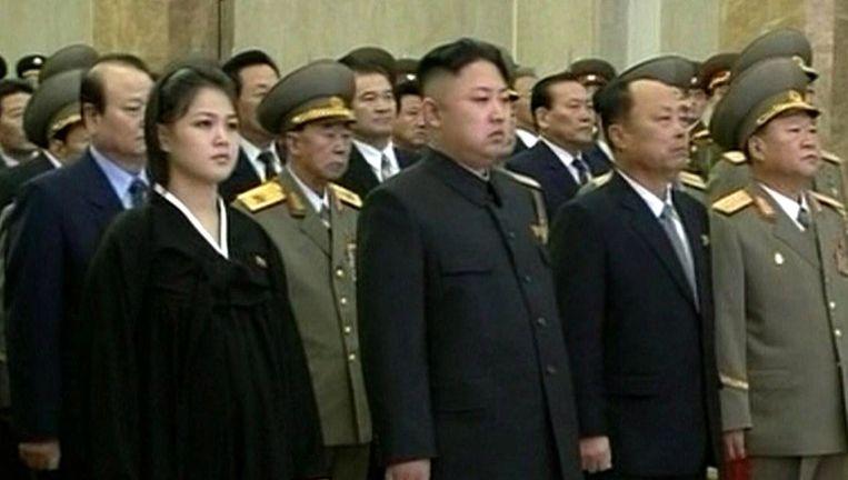 Kim Jong-un (midden) Beeld ap