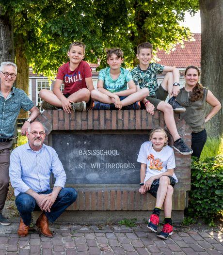 Kinderen verdienen geld voor een groener schoolplein in Riethoven