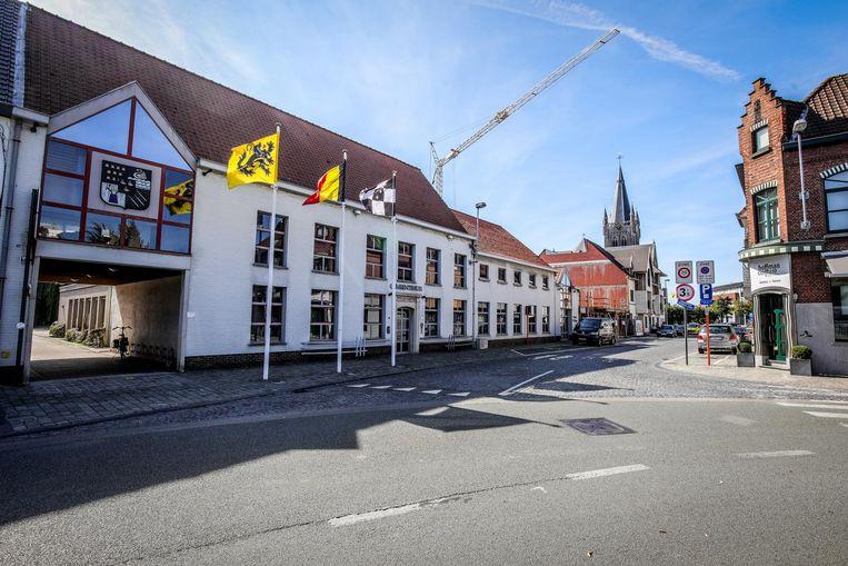 Het gemeentehuis van Jabbeke.