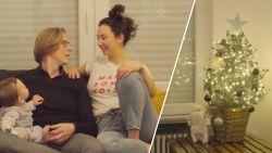 Eerste kerst voor Victor, het zoontje van Stijn en Nuria