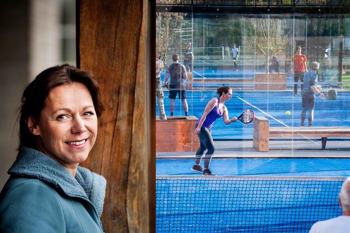 Sabine Appelmans mag van het gemeentebestuur samen met een koppel de padelterreinen uitbaten. Rechts beeld ter illustratie.