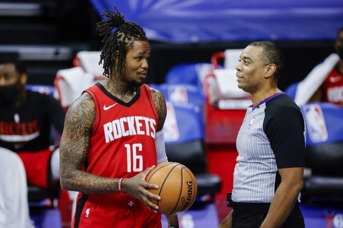 Ben McLemore (links) van de Houston Rockets.