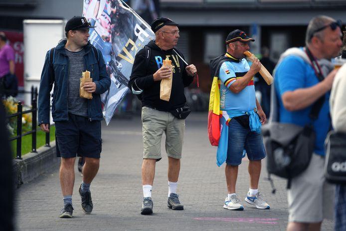 Het WK Wielrennen in Leuven kwam vrijdag eerder traag op gang maar vandaag en morgen wordt er bijzonder veel volk verwacht.