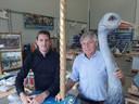 Robbert Dekkers (l) en Han Vermolen van Wooddesign Amusement Rides in Sprang-Capelle.