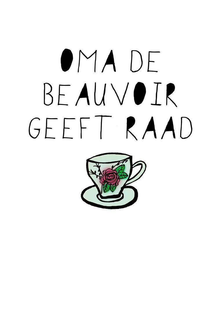Oma de Beauvoir geeft raad. Beeld -