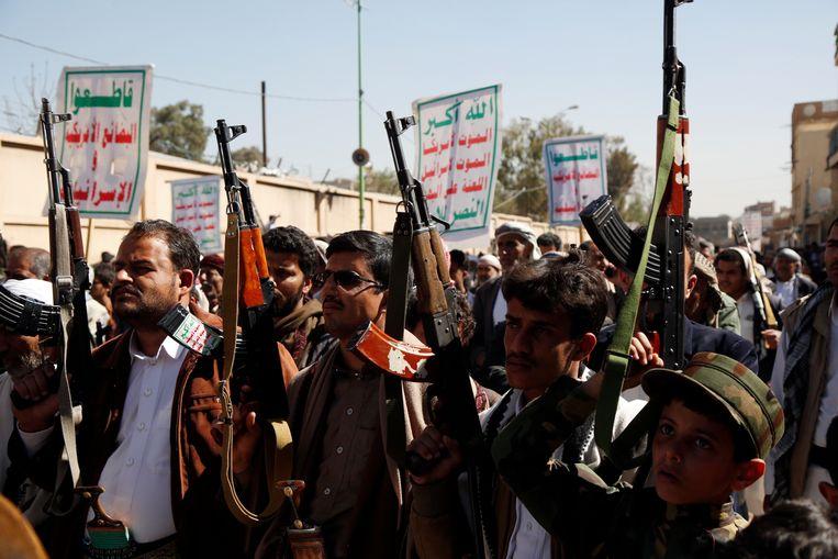 Eerder steunden de VS juist een coalitie onder leiding van Saoedi-Arabië tegen Houthi-rebellen in Jemen. Beeld Getty Images