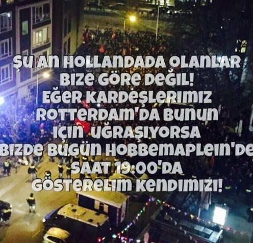 Oproep tot turkse demonstratie leidt tot onrust in den for Turkse reisbureau den haag