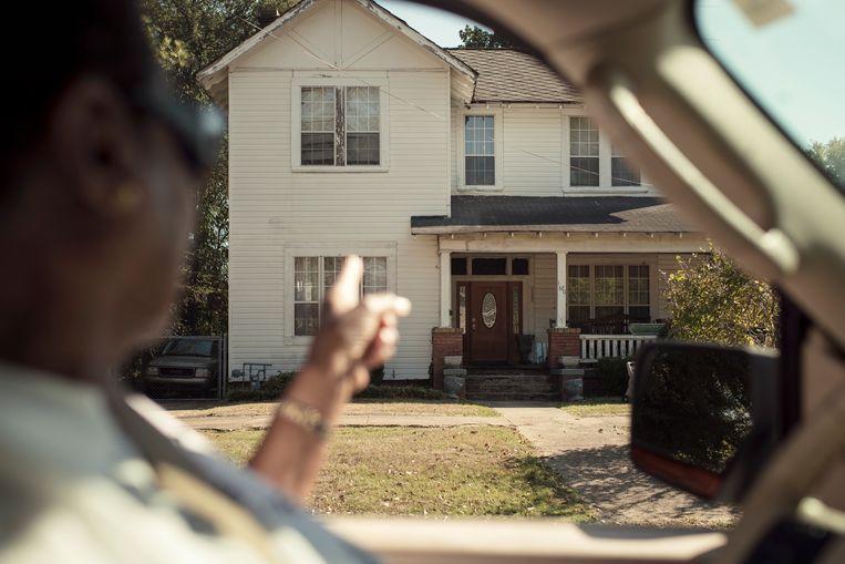 Een van de huizen in Selma waar Martin Luther King verbleef. Beeld Jef Boes / Tim Coppens