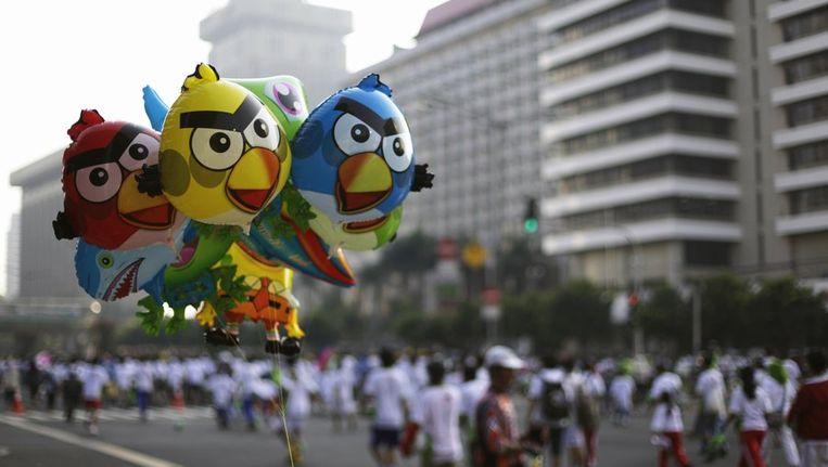 Angry Birds-ballonnen Beeld reuters