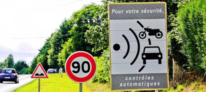 Vanaf 1 juli wordt de maximumsnelheid op Franse provinciale wegen verlaagd van 90 naar 80 km/u