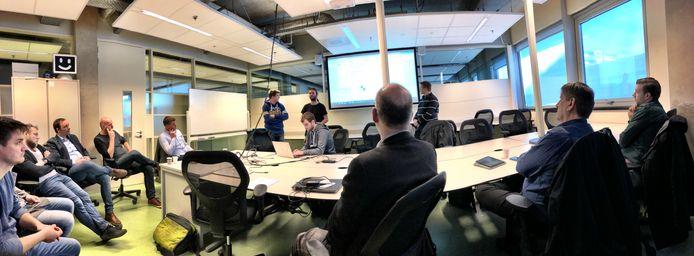 Voor de aanwezige ondernemers presenteerden de studenten van Deltion hun plannen.
