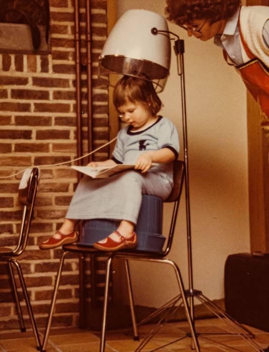An en 1981, à l'âge de 4 ans.