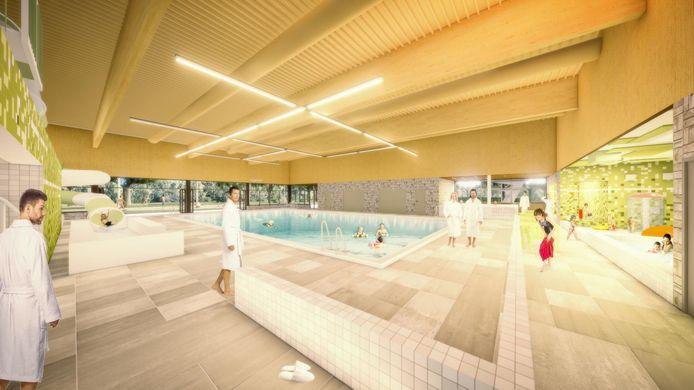 Bouwbedrijf Pellikaan bouwt het nieuwe zwembad voor Zwijndrecht. Volgens de gemeente worden de impressies verder uitgewerkt tot een definitief ontwerp.