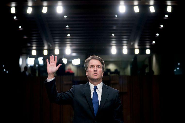 Kandidaat-rechter Brett Kavanaugh bij zijn eerste hoorzitting in de Amerikaanse Senaat eerder deze maand.