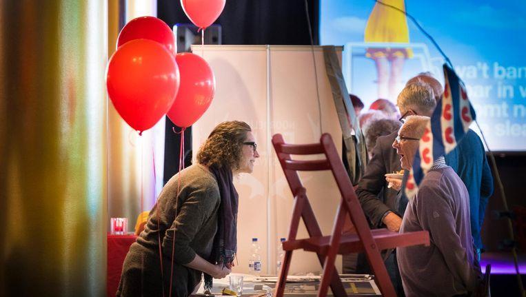 Mienskip-bijeenkomst in schouwburg De Harmonie in Leeuwarden, in aanloop naar het Culturele Hoofdstadsjaar. Beeld Wietze Landman